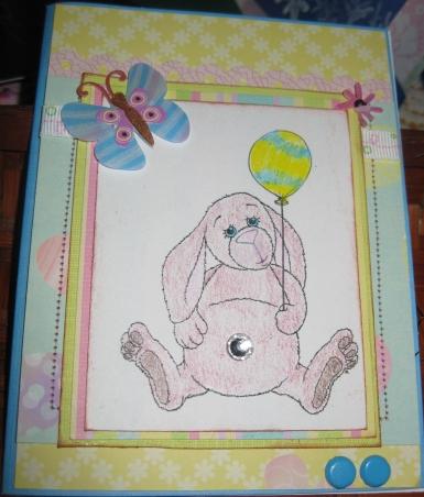 easter bunny w ballon