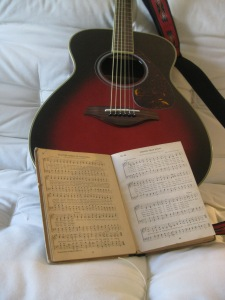 guitar and music book1