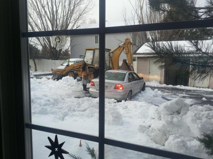 snow storm2014 plow
